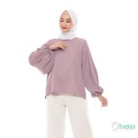 Atasan Muslim Wanita | Lune Blouse Ungu | S M L XL | Tazkia Hijab