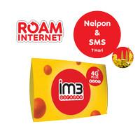 KARTU PERDANA ROAM NELP & SMS 7 HARI