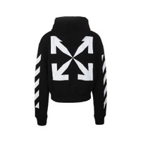 Off White SS21 Blue Monalisa Over Hoodie Black White 100% Authentic - S