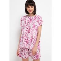 Nade Japan FT059 AMS Baju Tidur Tie Dye Marmer Wanita Set Baju Celana