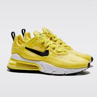 "Sneakers Wanita Nike Air Max 270 React ""Optic Yellow/ Black/ White"""