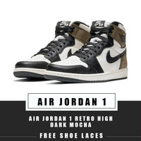 SEPATU NIKE AIR JORDAN 1 RETRO HIGH DARK MOCHA ORIGINAL SNEAKER
