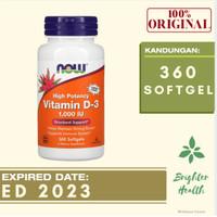 Now Foods Vitamin D3 1000IU D3 1000 iu isi 360 softgel