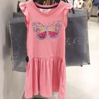 dress anak cantik fly glitter sequin H&M original branded