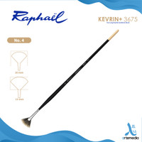 Kuas Lukis Raphael 3675 Fan Kevrin Synthetic Brush Long Handle