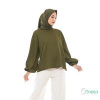 Atasan Muslim Wanita | Lune Blouse Hijau | S M L XL | Tazkia Hijab