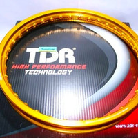 Velg TDR W Shape 185 Ring 17 Gold Silver Black Aluminium