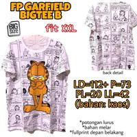 FP Garfield Bigtee B KAOS WANITA ADEM MELAR LUCU JUMBO FIT XXL 2XL 2L