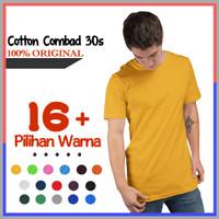 PROMO Kaos Polos Lengan Pendek Cotton Combed 30s Original Distro Size - Hitam, S