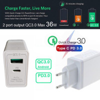 XF-119 36W Charger Quick Charge QC 3.0 Power Delivery PD 3.0