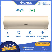AC GREE 1 PK GWC-09F1 INVERTER - GOLD [INDOOR+OUTDOOR UNIT ONLY