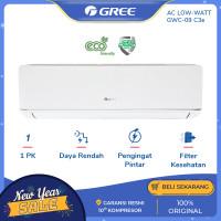AC GREE 1 PK GWC-09C3E DELUXE LOW WATT - PUTIH [INDOOR+OUTDOOR UNIT]