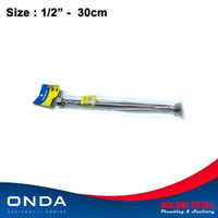 FLEXIBLE HOT WATER HOSE ONDA 30cm Selang fleksibel Air Panas Kaku 30