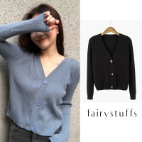 Cardigan Outer Pakaian Wanita Rajut Sweater Premium Lengan Panjang