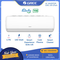 GREE AC GTECH 1PK - GWC-09GTECH - SILVER (Unit Indoor & Outdoor)
