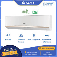 AC GREE GWC-05SE (Super-Eco) - STANDARD 0.5 PK - Putih[INDOOR+OUTDOOR]