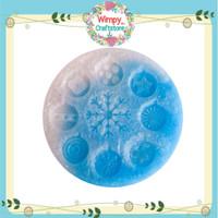 Silicone Mold Ornament Natal Cetakan Resin Clay Sabun Pudding Wimpy 6