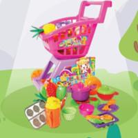 Mainan anak perempuan keranjang trolly supermarket