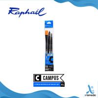 Kuas Lukis Raphael Campus XL Set 3 Short Handle Synthetic Brush