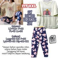 Fly Dumbo Pajamas Set PIYAMA KAOS CELANA PANJANG MELAR IMPOR JUMBO XXL