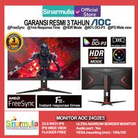 "Monitor LED Gaming AOC 24G2E5 23.8"" IPS 1ms 1920x1080 DisplayPort HDMI"