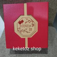 kotak kue lapis legit/ bolu edisi imlek box - 23x23x8