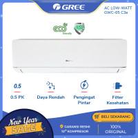 AC GREE 1/2 PK GWC-05C3E DELUXE LOW WATT - PUTIH [INDOOR+OUTDOOR UNIT]