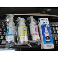 Tinta Epson L100 L210 Original Dus Segel 664 C, M, Y - L110, L120,L210