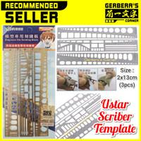 Scriber Template Ustar Engraves Modif Part Model Kit