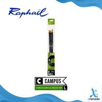 Kuas Lukis Raphael Campus Large Set 3 Long Handle Synthetic Brush