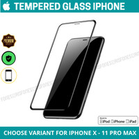 Tempered Glass Screen Guard iPhone X XR XS MAX 11 PRO MAX anti gores - iPhone X
