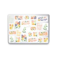 Flower Stamps - MacBook Case