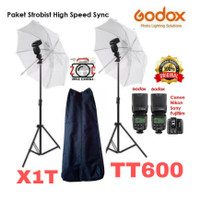 Paket Godox TT600 Double HSS + X1T High Speed TT 600 B2L Flash Kit X1