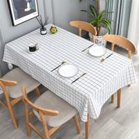 Taplak Meja Makan Ruang Tamu Kotak Bulat Anti Air Minyak UK 137x90 cm
