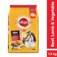 Makanan Anjing Mini Pedigree Adult Beef 1.3kg