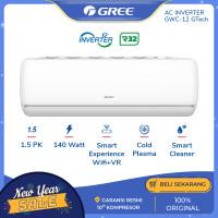 GREE AC GTECH 1.5PK - GWC-12GTECH - SILVER (Unit Indoor & Outdoor)