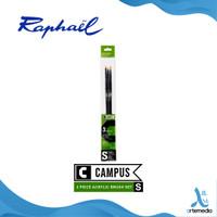 Kuas Lukis Raphael Campus Small Set 3 Long Handle Synthetic Brush