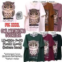 Owl Watching Oversize KAOS WANITA MELAR ADEM SUPER JUMBO XXXL 3XL 3L