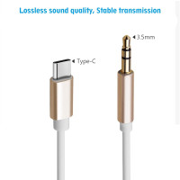 Kabel USB 3.1 Type C Male To 3.5 mm Male Audio Sound AUX TRS Speaker