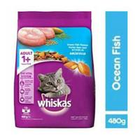 Makanan Kucing / Cat Food Whiskas Adult Ocean Fish 480 Gram