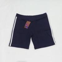 Celana Pendek Senam Wanita - Biru Tua, L