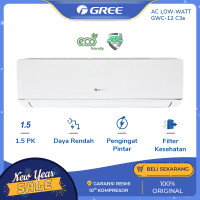 AC GREE 1.5 PK GWC-12C3E DELUXE LOW WATT - PUTIH [INDOOR+OUTDOOR UNIT