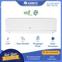 AC GREE 2 PK GWC-18C3E DELUXE LOW WATT - PUTIH [INDOOR+OUTDOOR UNIT ON