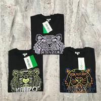 K ENZO Signature Tiger Ikat Neo Shirt / KENZOTIGER Tshirt -ORIGINAL FO
