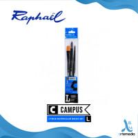 Kuas Lukis Raphael Campus Large Set 3 Short Handle Synthetic Brush