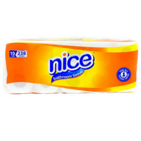 Tissue Nice Bathroom Non Embossed Toilet / 10 Roll 238 Sheet