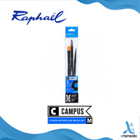 Kuas Lukis Raphael Campus Medium Set 3 Short Handle Synthetic Brush