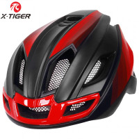 X-TIGER Helm Sepeda Ultralight Cycling Bike Cap + Tail Light - X