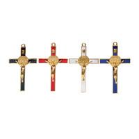 Salib Gantung Katolik Benediktus Segi Besi13cm Pajangan Dinding Rohani