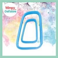 Cetakan Anting Polymer Clay Cutter Cetakan Daun Cookie Cutter WMP14